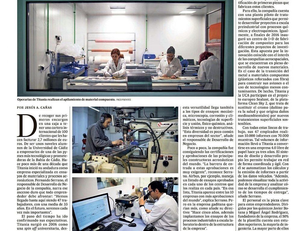 TITANIA tiene sueños estelares – Publicación en EL PAÍS