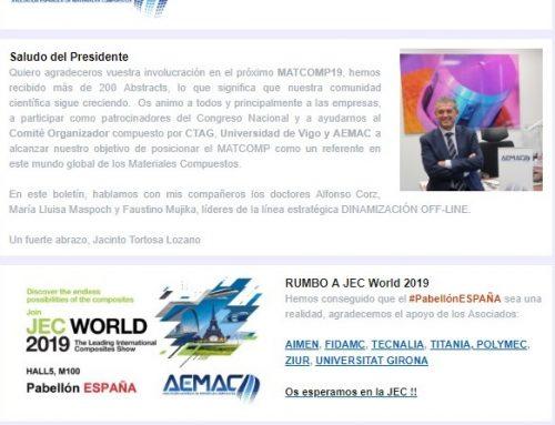 Suscríbete a los Materiales Compuestos – El Boletín de AEMAC
