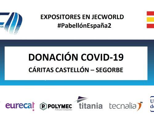 Una donación más a Cáritas, Pabellón España 2