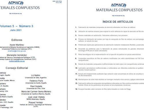 Revista «Materiales Compuestos» Nº16 – Procesos de Fabricación. Materiales Multifuncionales